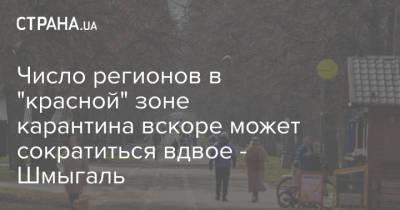 """Число регионов в """"красной"""" зоне карантина вскоре может сократиться вдвое - Шмыгаль"""